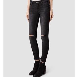 All Saints Mast Fit Skinny Jeans 30 X 29